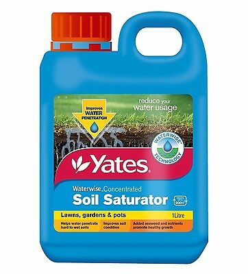 Yates Waterwise SOIL SATURATOR Concentrated Reduce Water Usage Lawn Pots- 1L