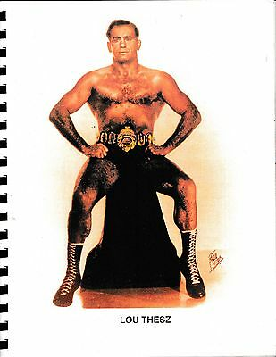 Lou Thesz 'Hooker' 1998  Bound Galley 2nd Ed. SIGNED