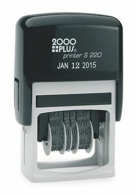 Cosco 2000 Plus Printer S-220 Self-Inking Dater, Black Ink