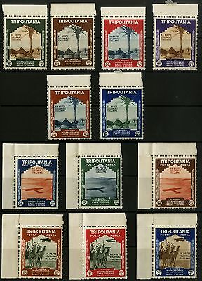 Tripolitania - SG 204-215 - 1934 - Colonial Exhibition Set of 12 - Mounted Mint