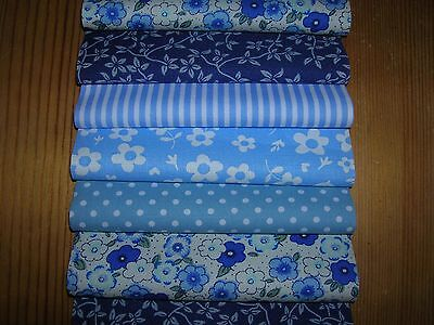 "40 x 5"" CHARM PACK BLUE 100% COTTON PATCHWORK/QUILTING/CRAFTS BAB"