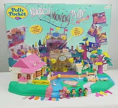 Polly Pocket Magical Movin' Pollyville 1996  100% Complete BOXED