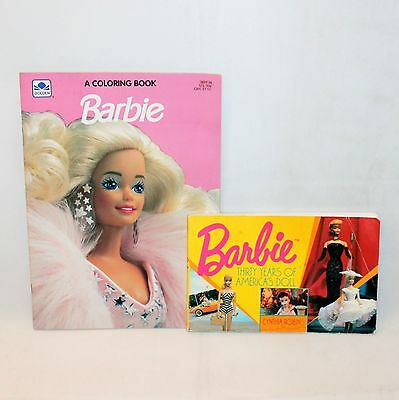 Vintage BARBI 1991 Coloring Book Golden + 30 Years of America's Doll