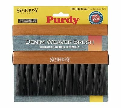 Purdy 7in Natural Faux Finish Paint Brush Linen Denim Soft Stiffness Wood Handle