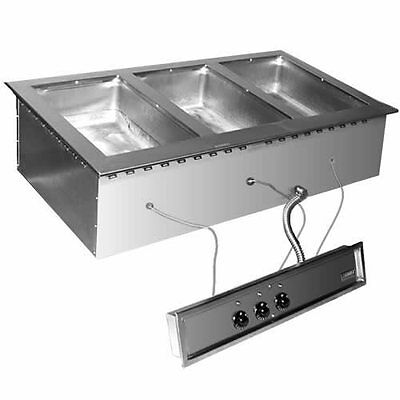 Eagle Group SGDI-3-120T Drop-in Wet or Dry Type Hot Food Well Unit - 120v