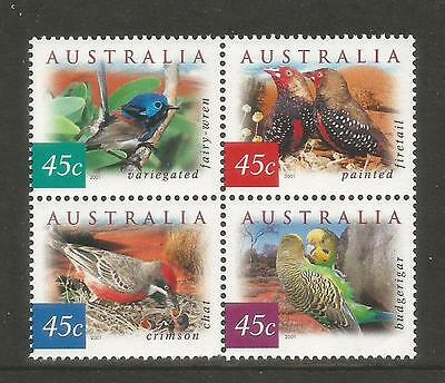 Australia 2001 Flora & Fauna definitives--Attractive Topical (1987a) MNH
