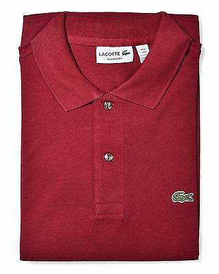 be39bcfdb5a3 Lacoste Men s Short Sleeve Classic Pique Polo Shirt Bordeaux (L1212-51 476)