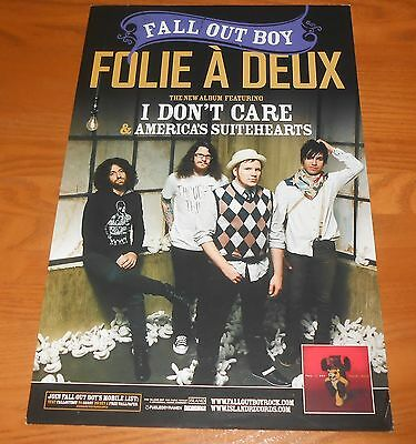 Fall Out Boy Folie A' Deux Poster Original 2-Sided Promo 17x11