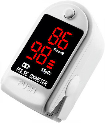 FDA Pulse Oximeter Fingertip CMS50DL / FL400 Blood Oxygen SpO2 Monitor - White