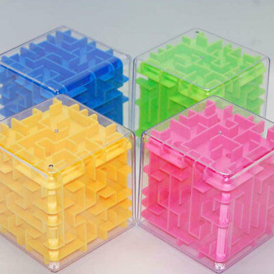 Child 3D Maze Magic Cube Labyrinth Ball Rolling Balance Puzzle Funny Toy