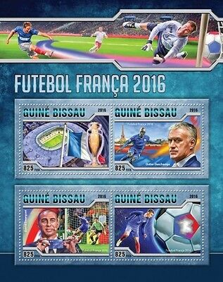 Z08 GB16504a GUINEA-BISSAU 2016 Football 2016 MNH
