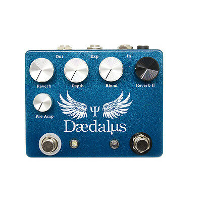 CopperSound Daedalus Dual Reverb Guitar Effects Pedal Stompbox Powder Blue