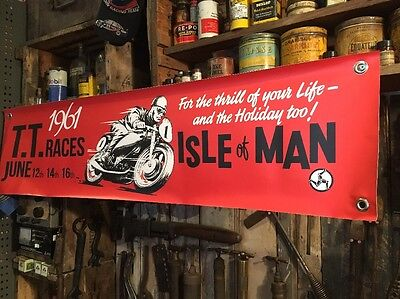 TT Races Isle Of Man Red Banner