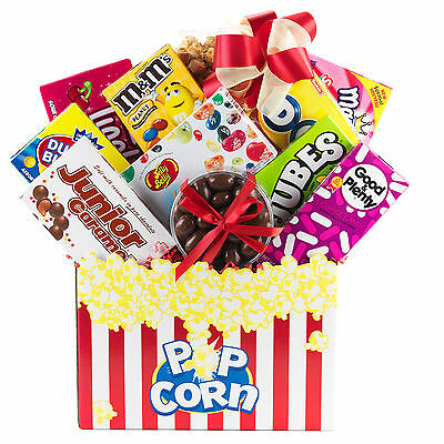 Gift Basket With Mints Candy Mike & Ike Milk Chocolate Caramels