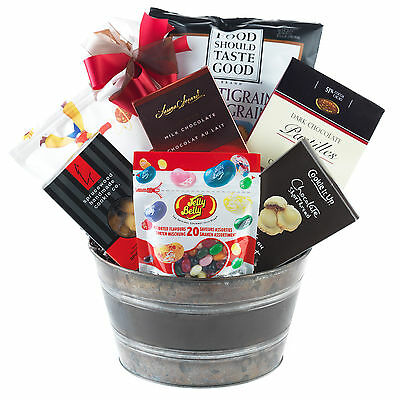 Peanut-Free Gift Basket With Chocolate Cookies Shortbread Nuggets Chips