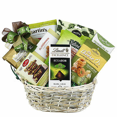 Gluten-Free Health Gift Basket With Nuts Nougat Chips Cookies Quionoa Puffs
