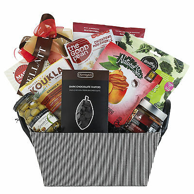 Healthy Vegan Gift Basket With Olives Cookies Antipasto Nuts Dried Fruit