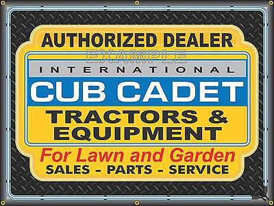 International Cub Cadet Lawn Garden Tractors Banner Sign Art Mural 4' X 3'