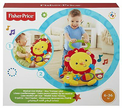 Fisher Price Musical Lion Baby Walker Educational Toddler First Steps Balance