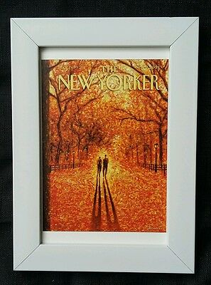 New Yorker magazine framed postcard print 6x4 NEW 'Autumn in Central Park'