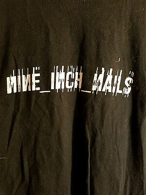 Nine inch nails Xlg Black Tshirt live with teeth 2005 box number 119
