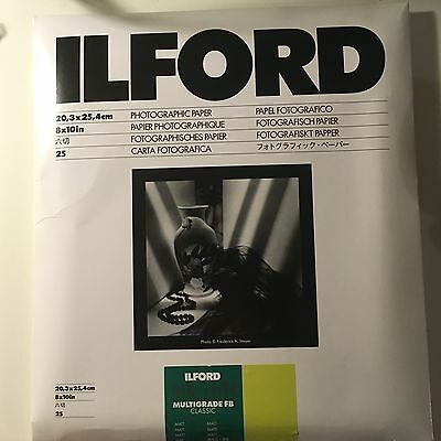 Ilford Photography Paper, Ilford  MGFB Classic - Mate, H8x10in