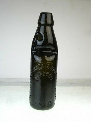 11293 Old Antique Glass Bottle - Codd Black Cooperative Society Leith