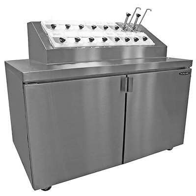 Nor-Lake ZR152SMS/0 54in Ice Cream Topping Cooler Cabinet 16 Topping Syrup Rail