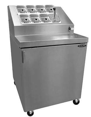 Nor-Lake ZF071SMS/0 27-1/2in Ice Cream 8 Topping Cabinet w/ Freezer Base