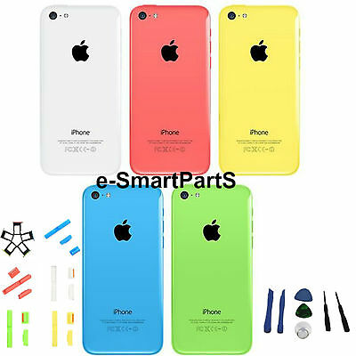 Full Back Aluminium Housing Cover Replacement For Iphone 5C + Tools +Sim Tray