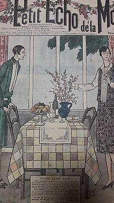 N°8 / Vintage 1927  Paris Fashion & Sewing Pattern Le Petit Echo Mode Art Deco
