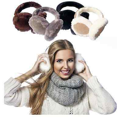 Women's Faux Fur Insulated Winter Ear Muffs  for a soft and smoot  staying warm