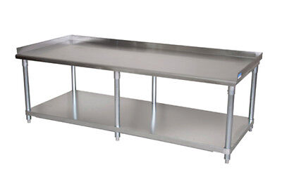 "BK Resources Economy 72""x30"" Stainless Kitchen Equipment Stand - 6 Legs"
