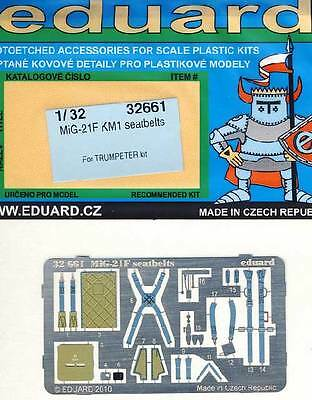 eduard - MiG-21F KM1 seatbelts Etched parts Edging kit - 1:32 Trumpeter NEW