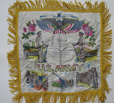 Ww Ii U.s. Army Sister Pillow Cover Sham ~ Great Detail