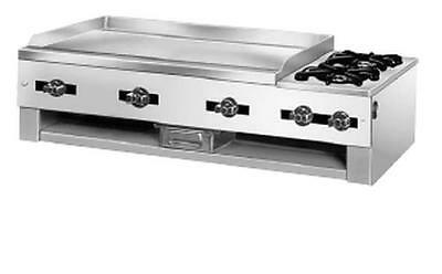 "Comstock Castle 10201 30"" Wide Countertop Griddle & 2 Open Burner Combo"