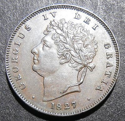 Third-Farthing 1827 - about aUNC but without lustre