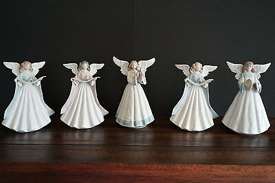 Lladro #5719, 5830, 5831, 5875, 5876 Group of Angles - Porcelain Figurines