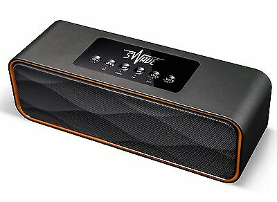 SWAVE Portable Stereo Bluetooth Speaker 10W High Power Output with Rechargeable