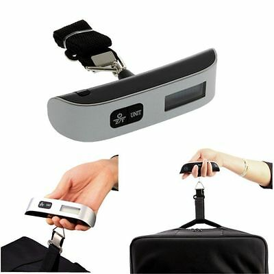 1XGood 50 kg / 110 lb Electronic Digital Portable Luggage Hanging Weight Scale@Q