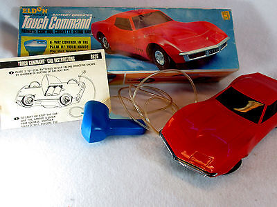 Vintage 1968 Eldon Touch Command red Corvette Stingray battery operated car