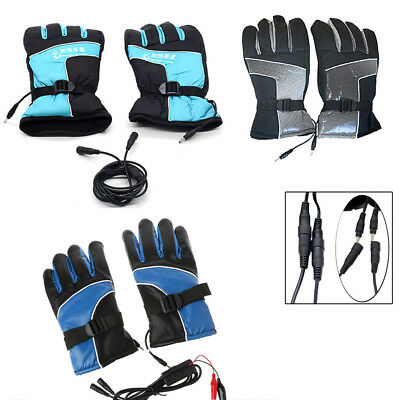 Motorcycle Men Power Electric Heated Hands Warmer Battery Gloves Outdoor Hunting
