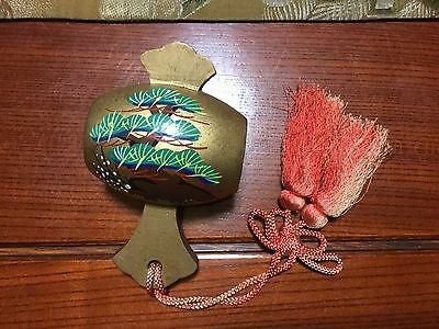 Japanese wooden Mallet (of goodluck) with silk embroidery tassel - 9 x 15cm