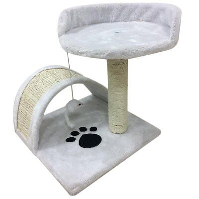 New Cat Tree Scratching Post Scratch Activity Centre Warm Bed Toys Scratcher