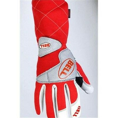 Bell Apex Nomex Racing Driving Gloves SFI 3.3/5 Rated, Red, Size Large