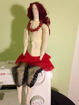 Interior textile cloth fabric handmade TILDA DOLL