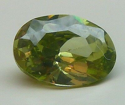 AAA+++CA 1,19 CT***+++7,00x5,00 MM OVAL*** CZ / COLOUR OLIVE Nr. 33/ CZ /*** AAA