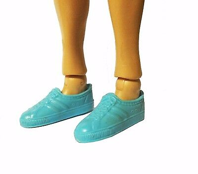 Barbie Shoes Mattel Flat Foot Tennis Blue Doll Sneakers Athletic Gym