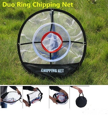 """A99 Golf Duo Ring Chipping Net 20"""" Portable"""