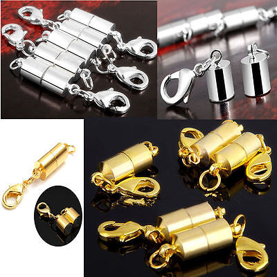 MAGNETIC CLASPS VERY STRONG SILVER/GOLD PLATED Jewelry Necklace Findings